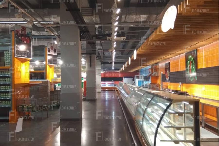 Промышленные полы - Полированный бетонный пол в GLOBUS Ош - Floor Center